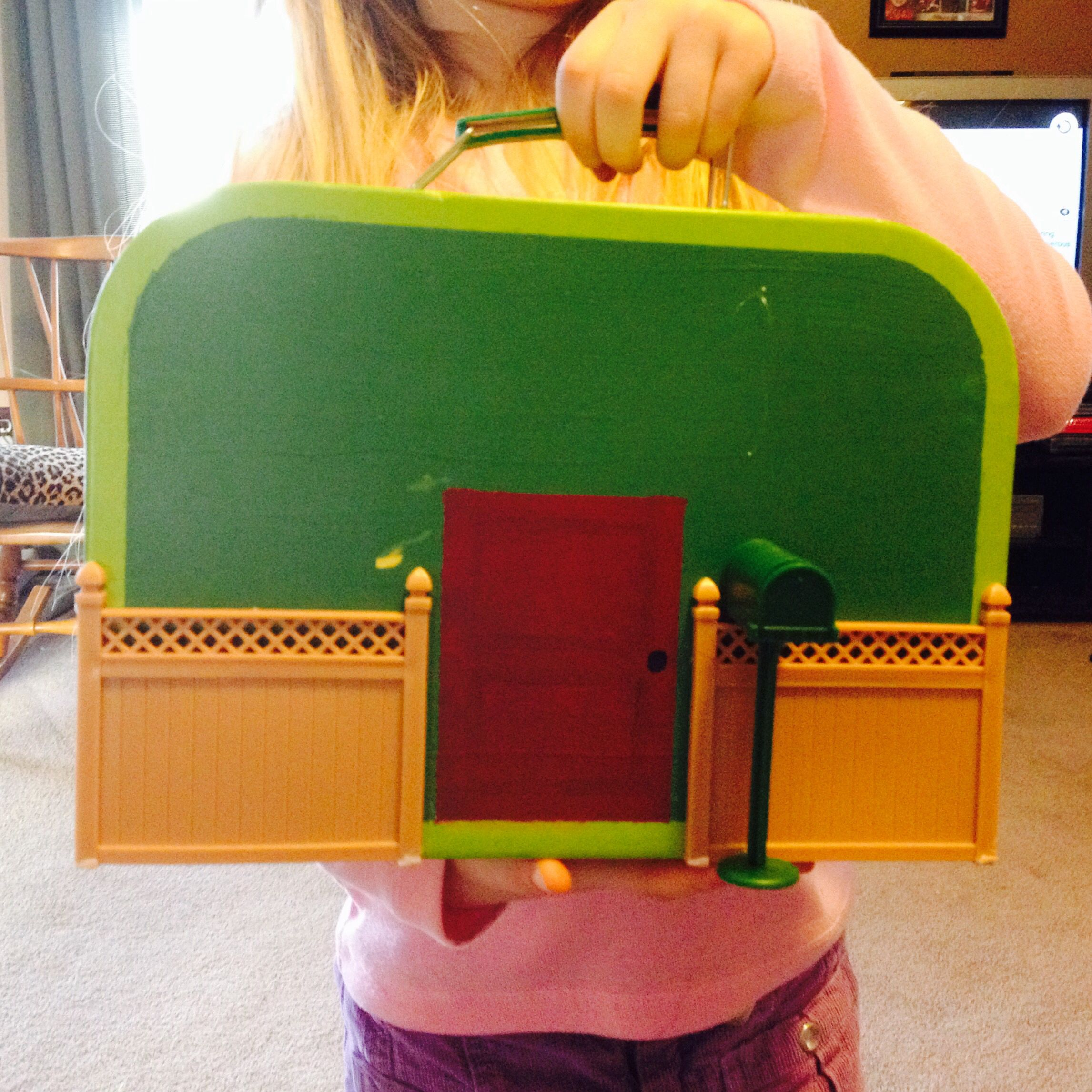 suitcase dollhouse i made for my daughter i found a cute little