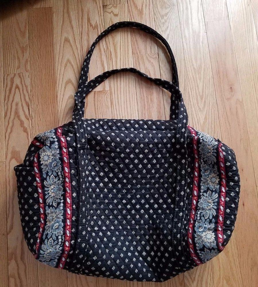 Vera Bradley Large Duffel Bag Classic Black pattern Retired Black White Red   VeraBradley  DuffleGymBag 4f7889d85851f