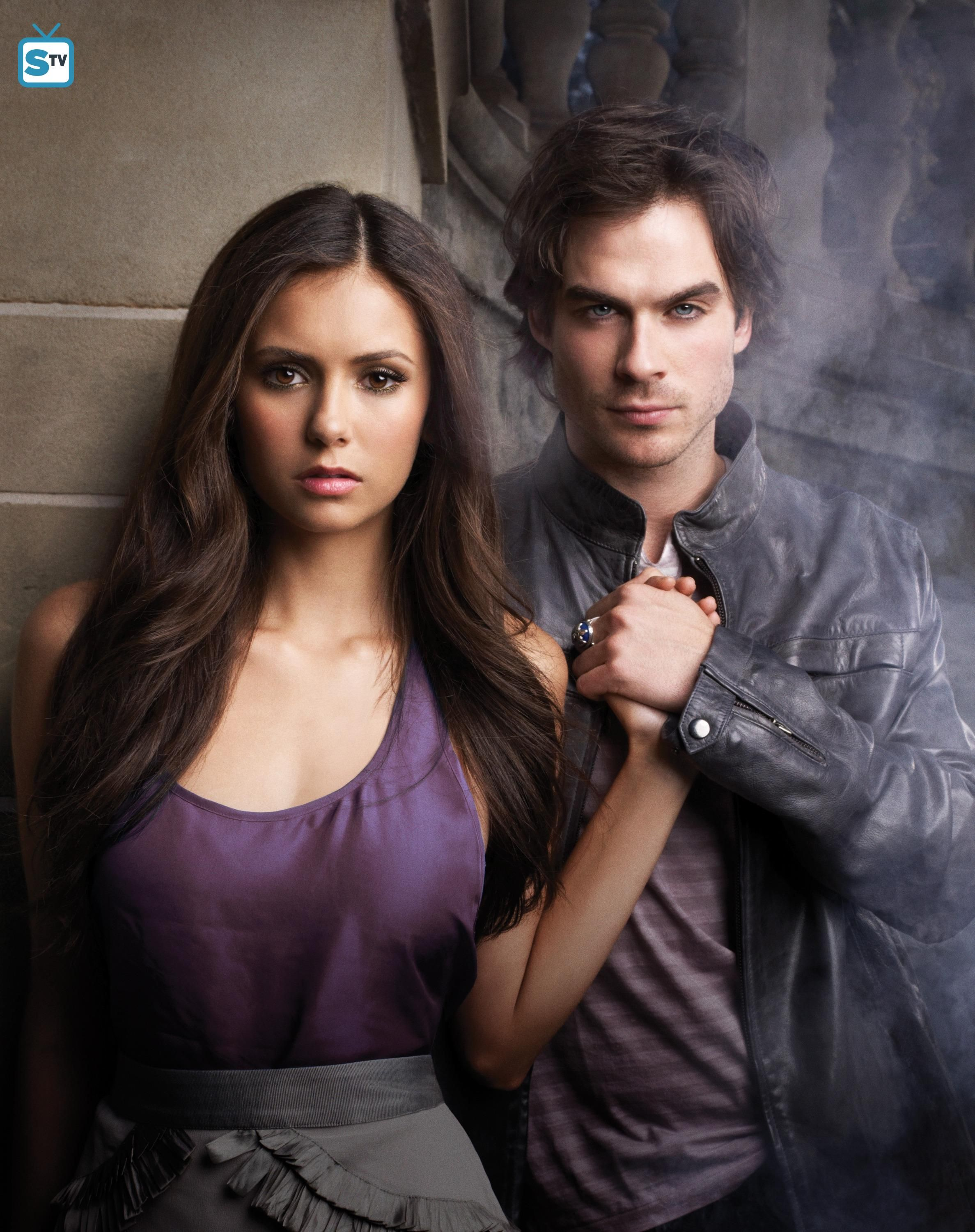 "The Vampire Diaries S1 Cast Nina Dobrev ""Elena Gilbert "" Ian"