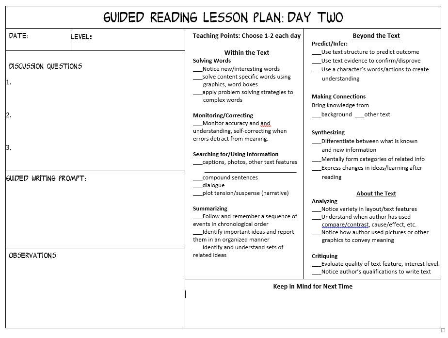 Guided Reading For Primary Grades With A Freebie Reading