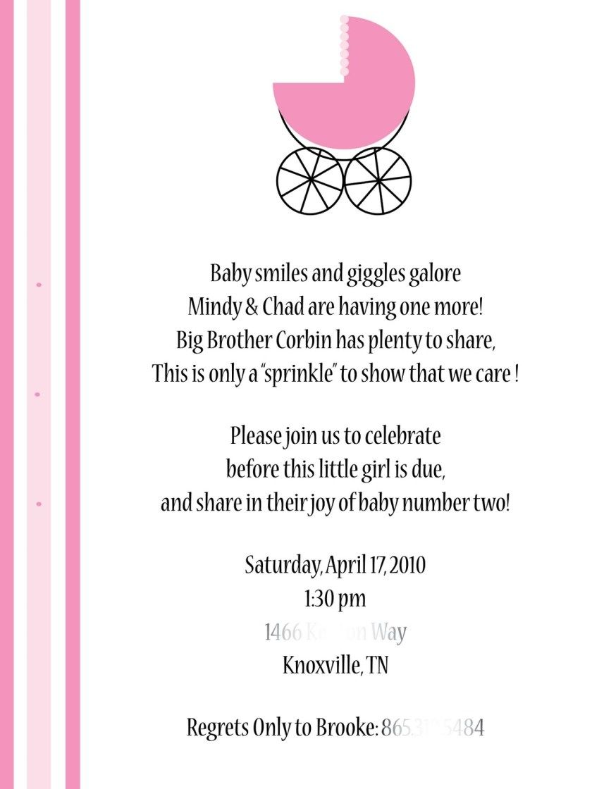Baby Shower Card Sayings For Girl