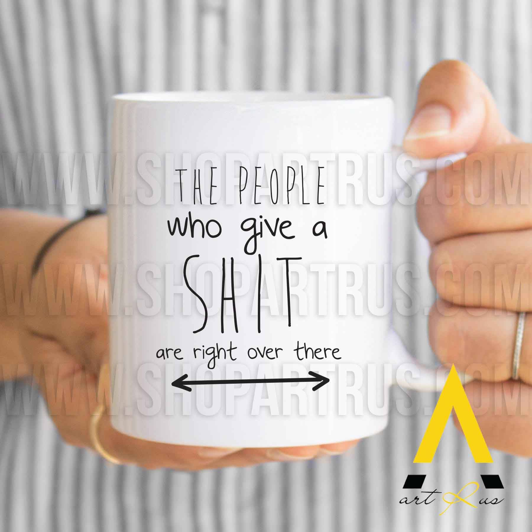 Funny Coworker Gift For Christmas The People Who Give A Shit Are Right Over There Basket Office Ideas Her MU672 By ArtRuss On