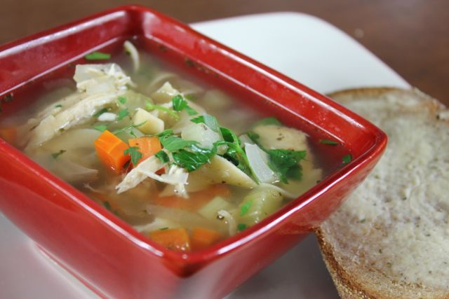 Crock pot chicken noodle soup yummy and easy april for Homemade chicken noodle soup crock pot