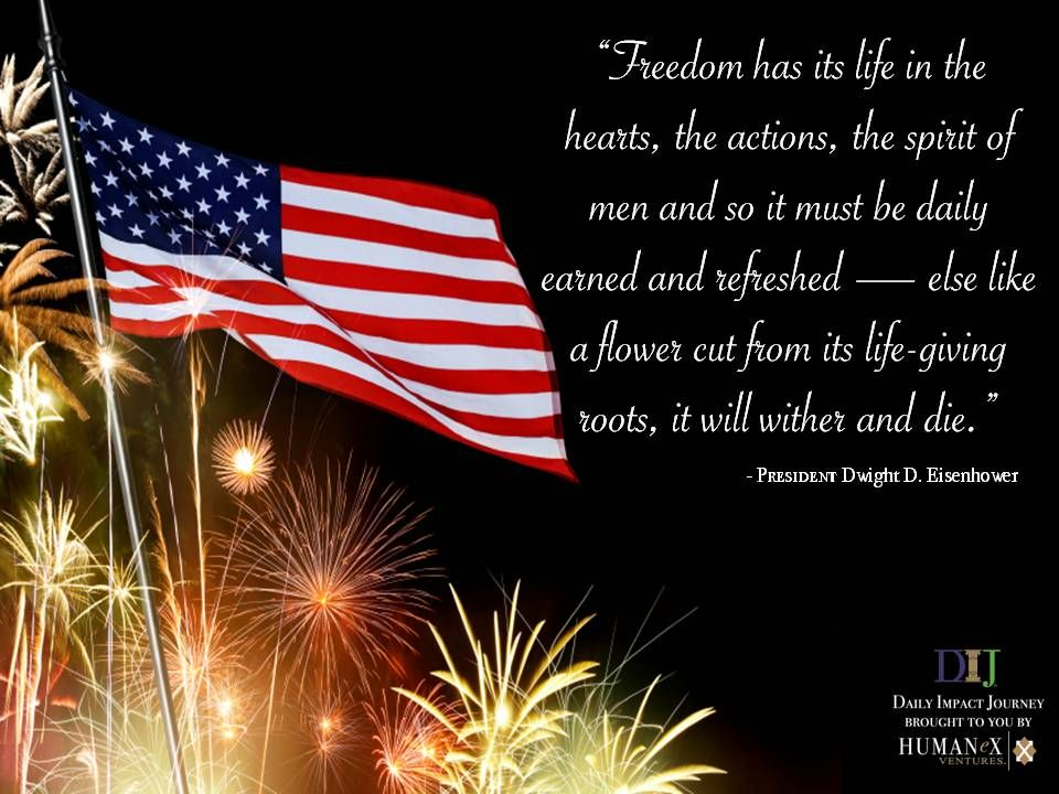 In what areas of your life are you most thankful for freedom?