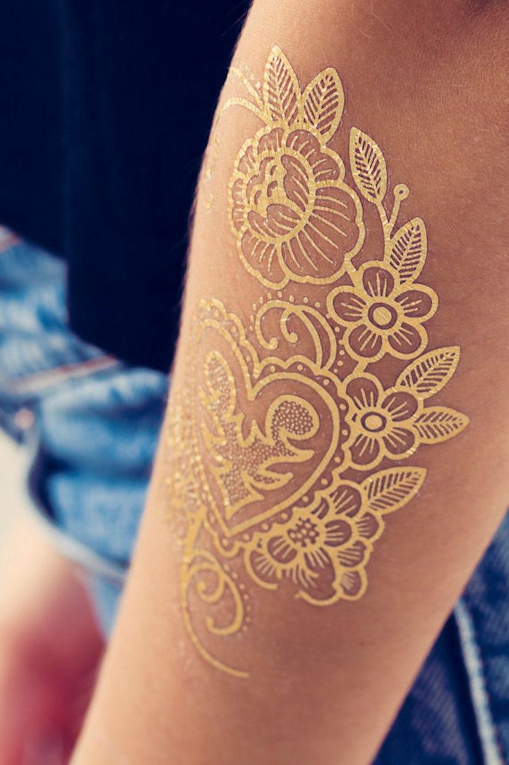 Vibrant Temporary Tattoos Designed By Famous Artists Who Ink Permanent Body Art Temporary Tattoo Designs Metallic Tattoo Temporary Tattoos