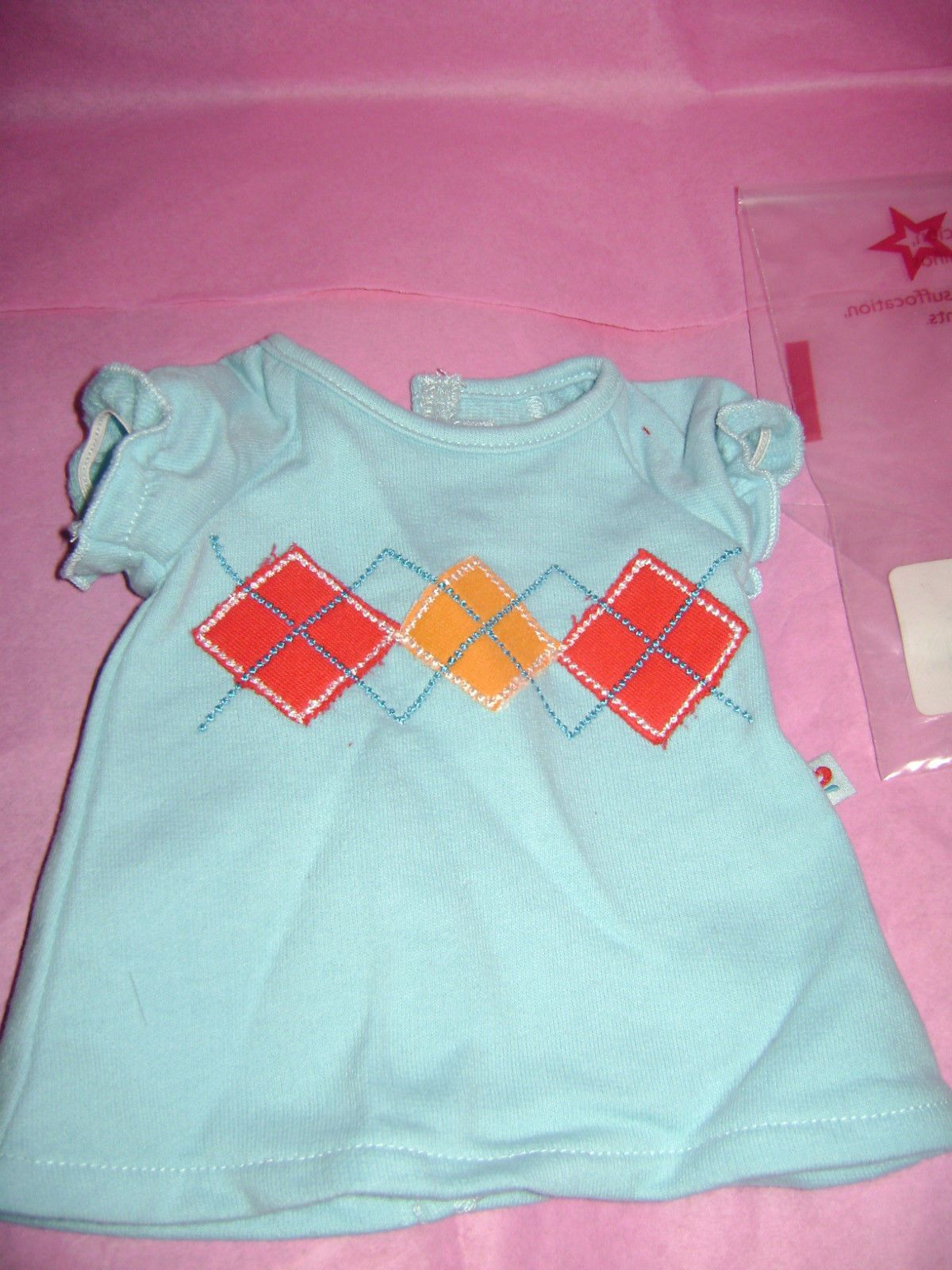 American Girl Bitty Twins FAIR ISLE SKIRT SET headband sweater  No doll baby