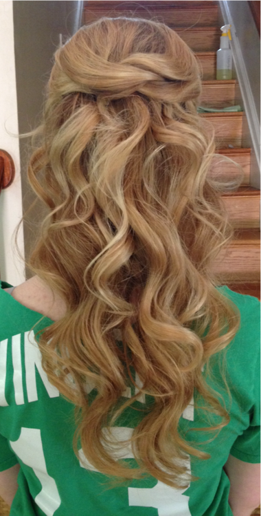 Prom hair style. Half up and half down. Curly | Hair ...