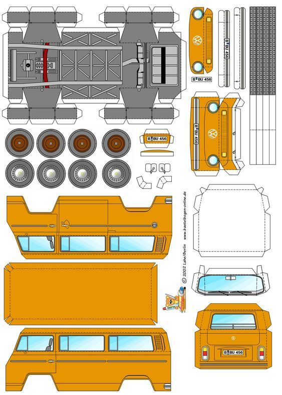 kombi origami  Google Search   Projects to try      Diagram     Templates  Camper van