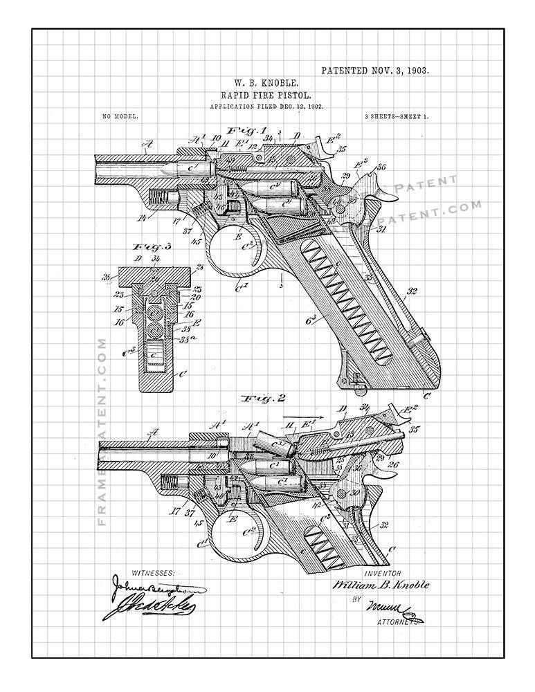 Pin By Frame A Patent On Gun Patent Prints