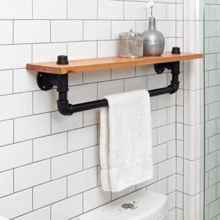 Inspirational Small Shelf with towel Bar