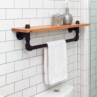 Lovely towel Bar and Shelf