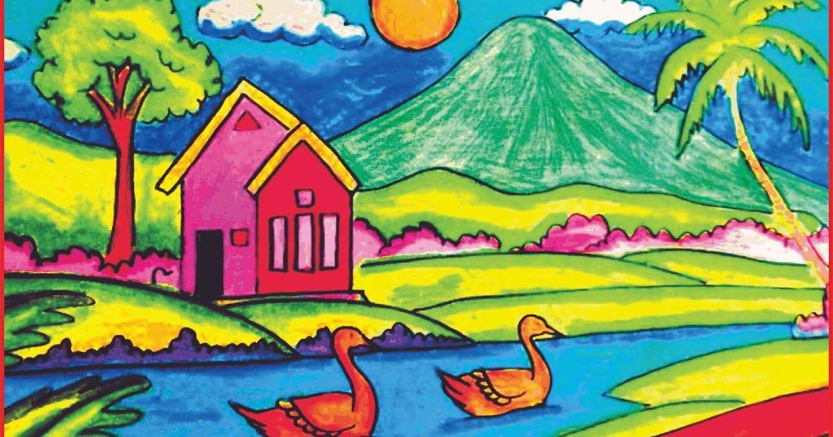 Terbaru 30 Contoh Lukisan Pemandangan Untuk Pemula Wallpaper Keren Untuk Hp Contoh Gambar 3 Dimensi Kebanyakan Seniman Masih M Di 2020 Lukisan Pemandangan Painting