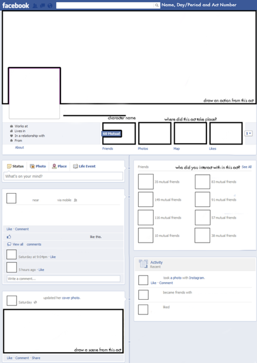 facebook templates for students