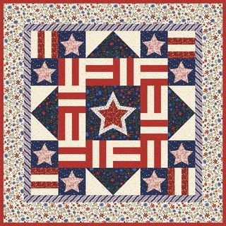 Stars and Stripes Quilt, free pattern by Stacy Harpole, fabric by ... : patriotic quilt kits - Adamdwight.com