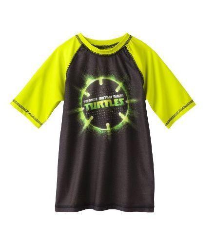a6e3247644 NWT - Teenage Mutant Ninja Turtles Boys' UPF 50+ Rash Guard Swim Shirt XS  (4-5) #Nickelodeon