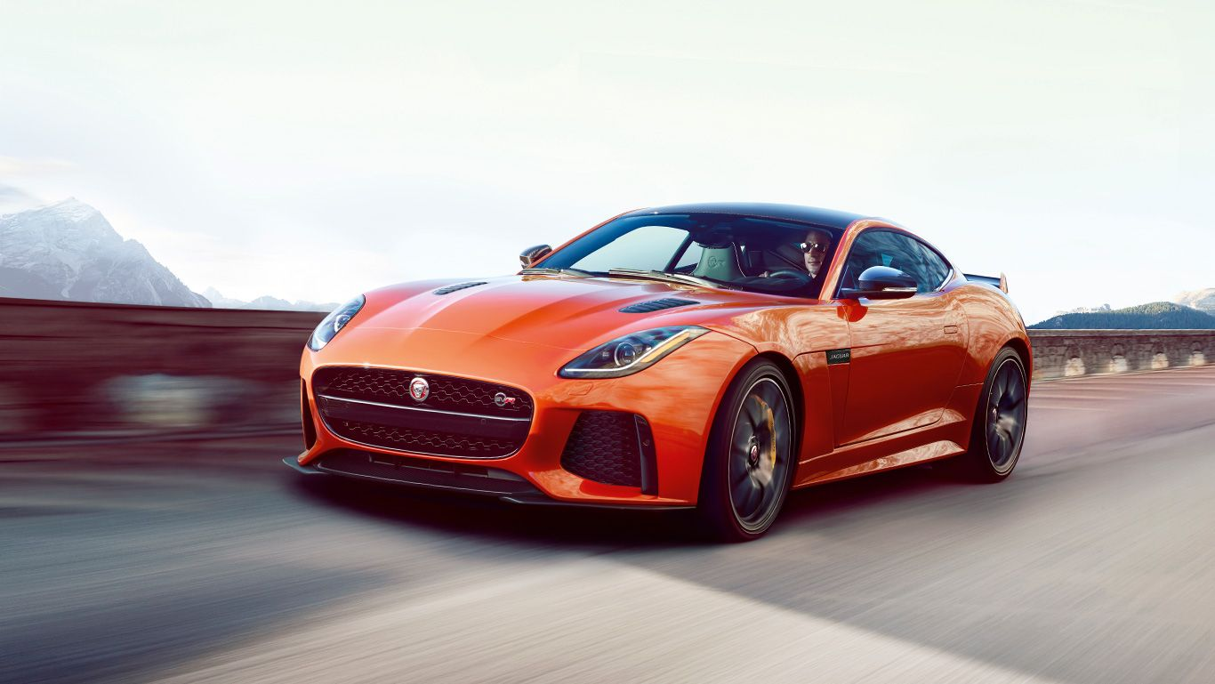 JAGUAR F TYPE SVR Coupe shown in Firesand Sports Cars