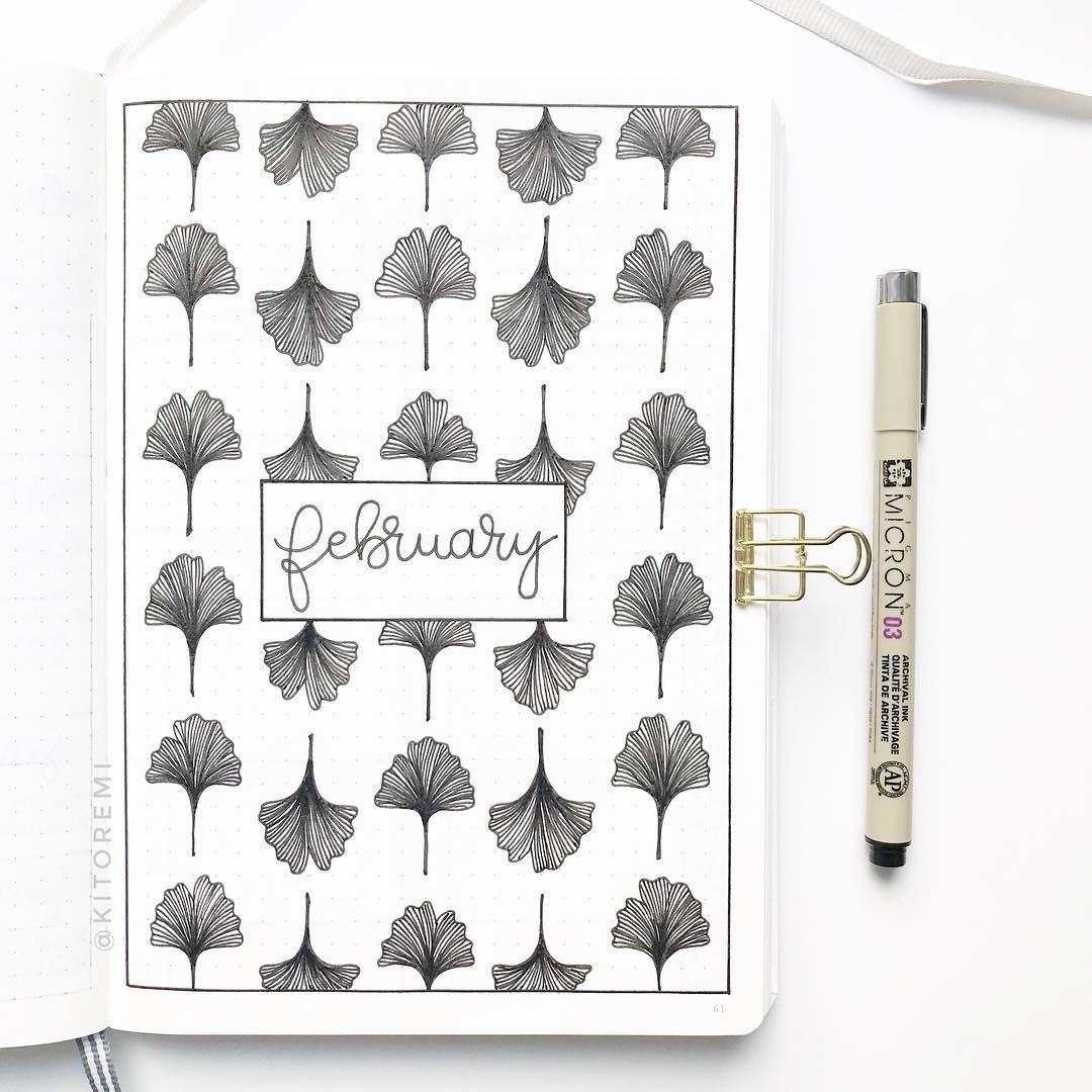 "• kimi • on Instagram: ""hello february, my wonderful birthday month ☺️ . layout is inspired by the talented @frau_kleinkariert . #bulletjournalcoverpage…"" #birthdaymonth"