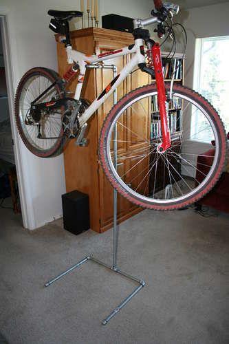 Diy Bicycle Repair Stand Bike Stand Diy Homemade Bike Stand