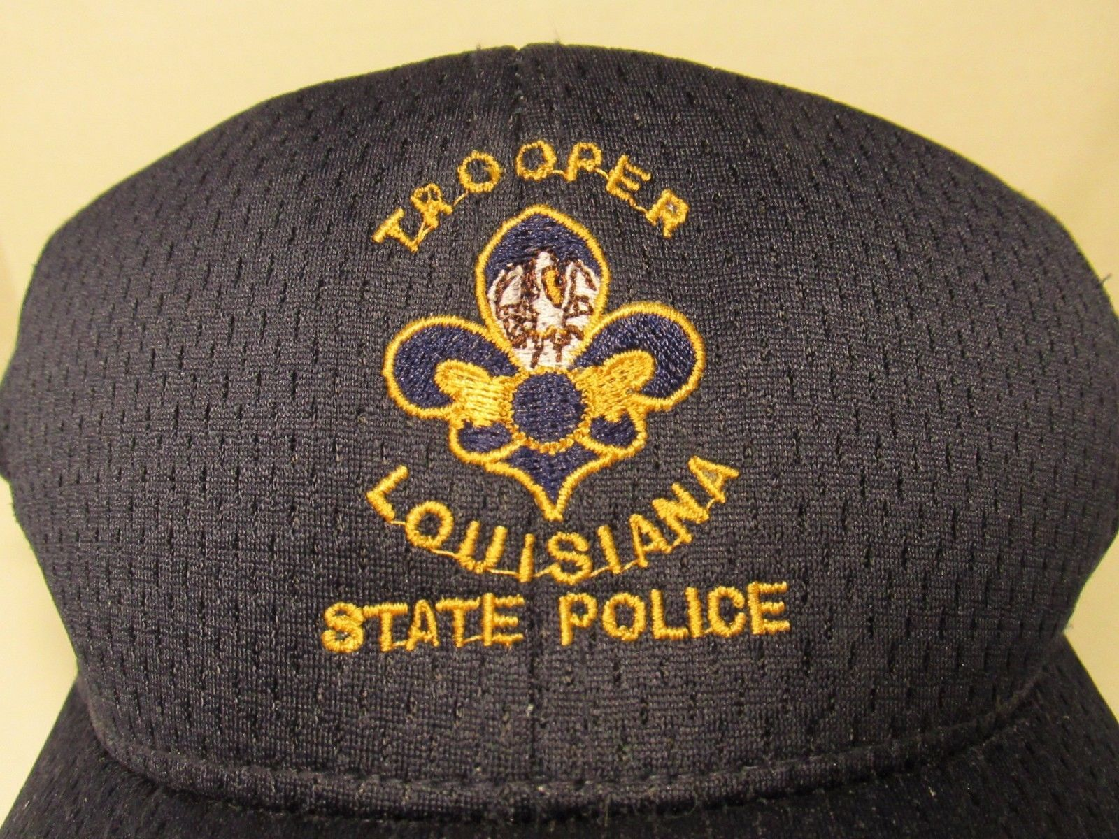 Louisiana State Police Trooper Hat Blue With Gold Crest Yupoong Polyester Cop State Police Trooper Hat Trooper