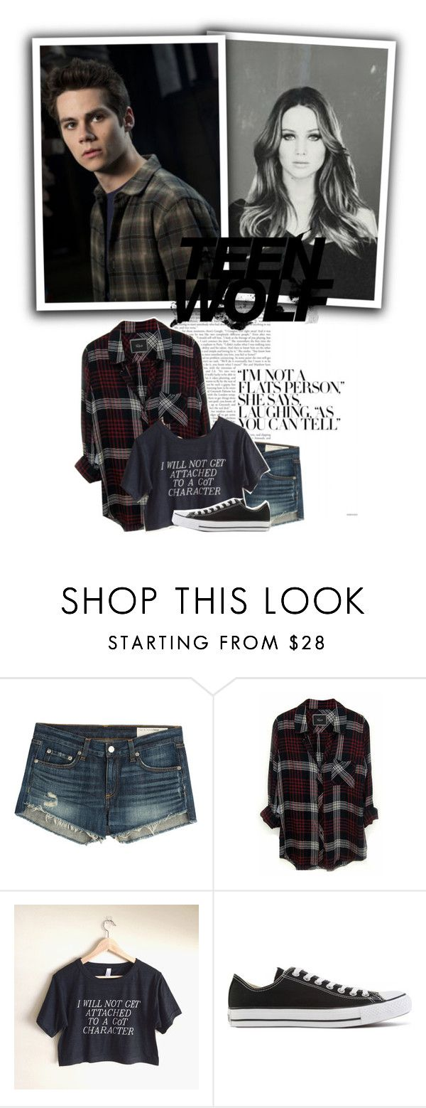 """""""Stiles Stilinski { Gender Swapped }"""" by x-jen-cozy-wolves-x ❤ liked on Polyvore featuring rag & bone, Rails and Converse"""