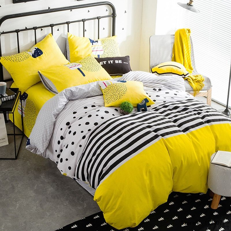 Cheap Yellow Duvet Covers Buy Quality Linen Sheets Directly From China Duvet Cover Suppliers Tutubird Girls Strip Spot Duvet Covers Yellow Duvet Covers Duvet