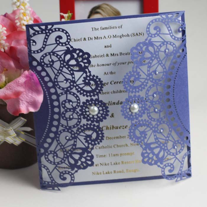 Laser Cut Paper Invitations Laser Cut Wedding Invitation Ea442