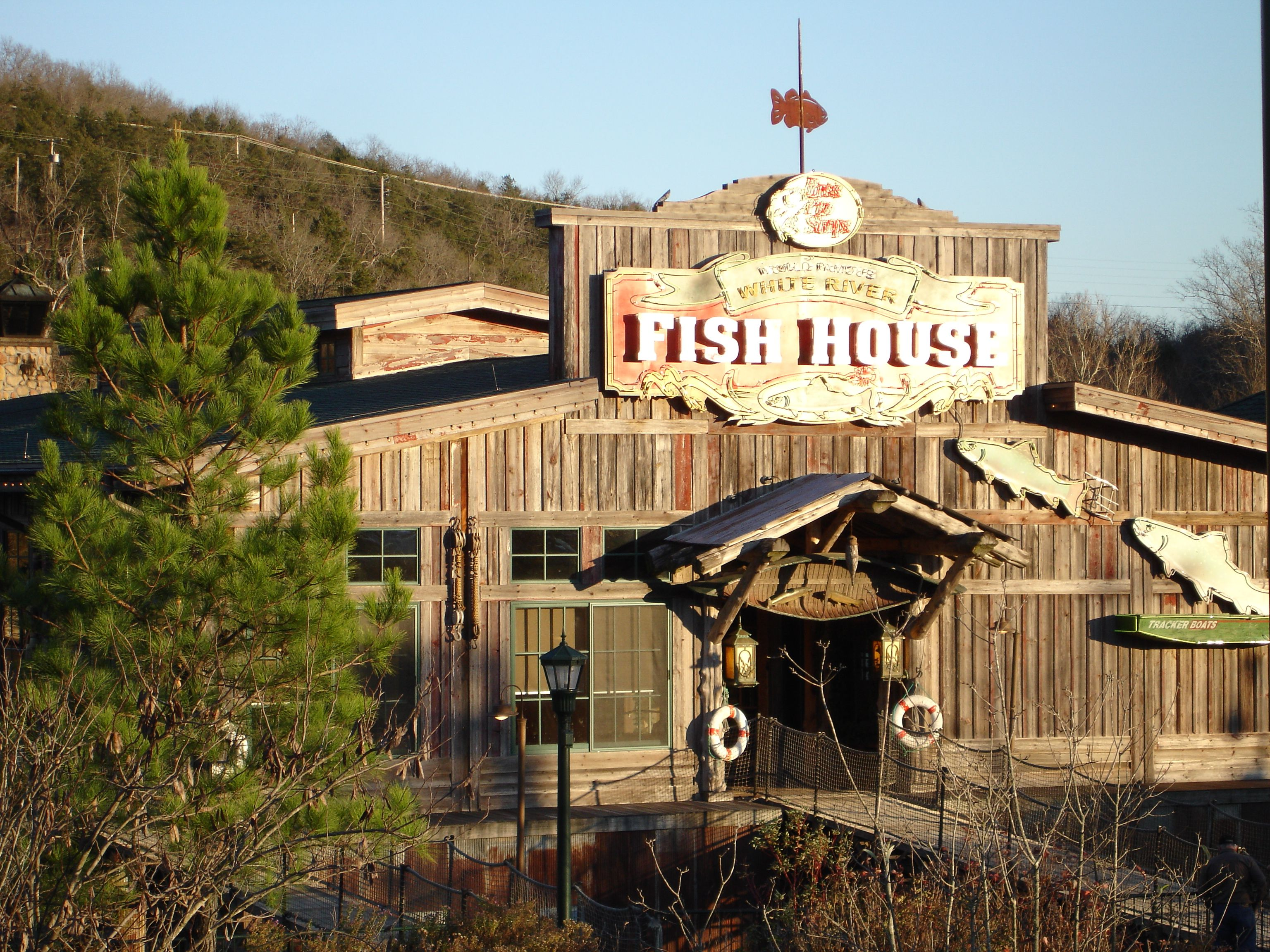 "A Floating Restaurant on Lake Taney o ""The Fish House"" at the"