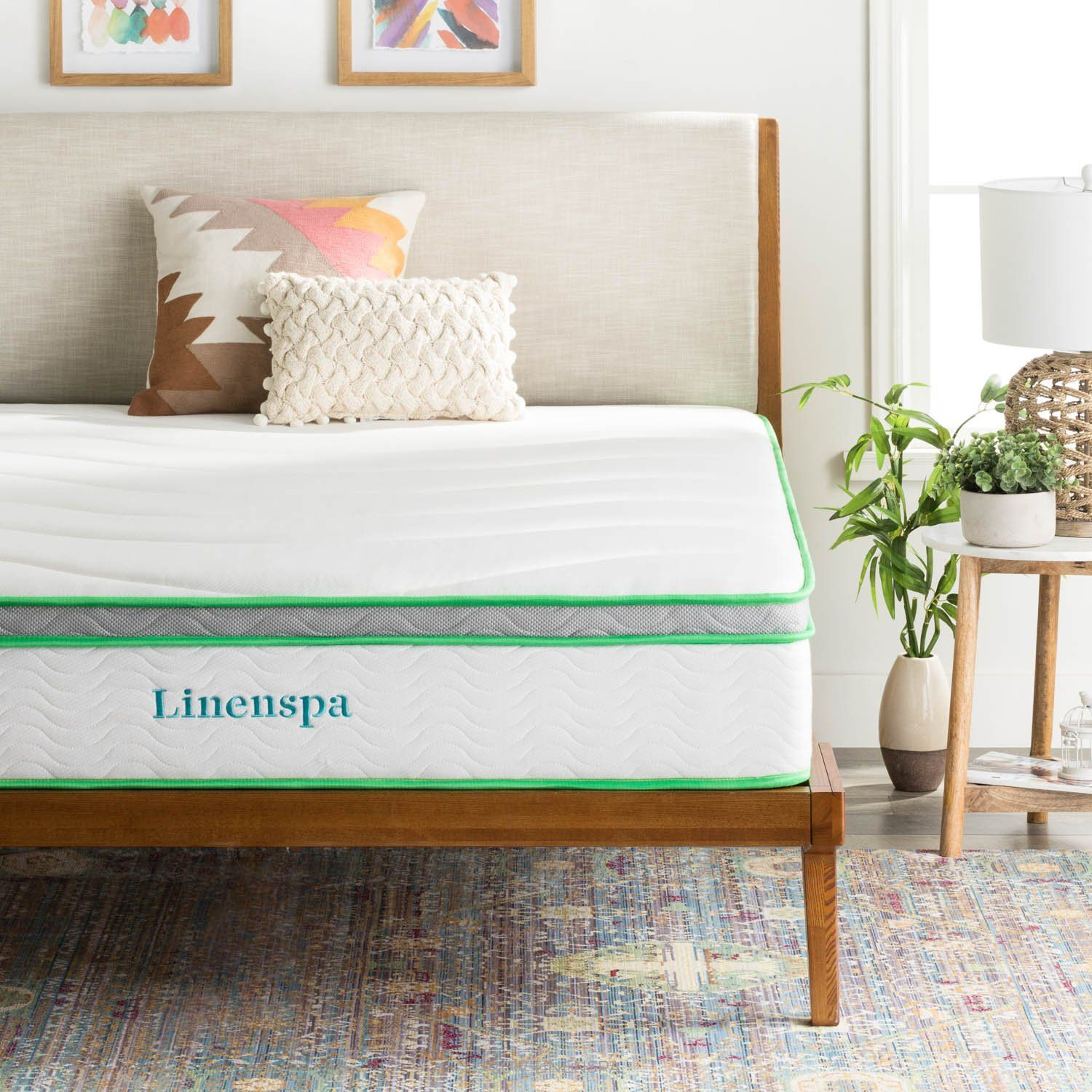 linenspa 10 inch latex hybrid mattress supportive responsive