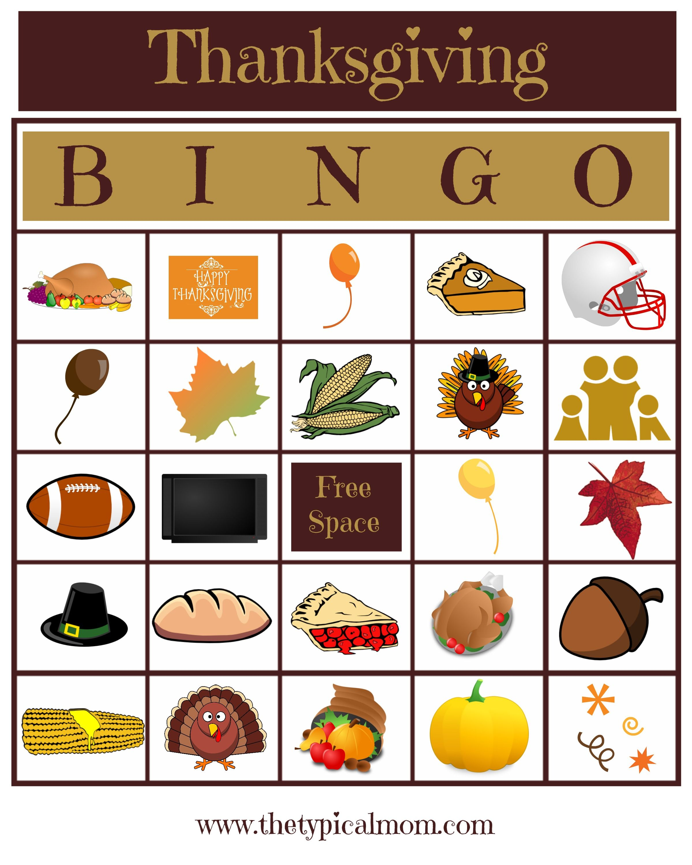 Thanksgiving Bingo game that everyone will love Great for all ages