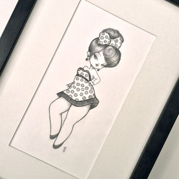 Original pencil drawing my tiny dancer