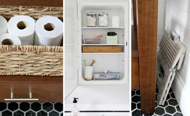 10 Small Bathroom Space Saving Ideas Get one blogger s best tricks