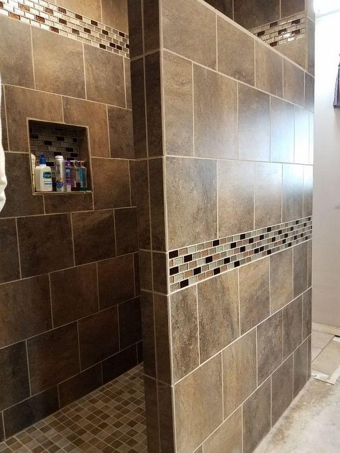 31 Master Shower Ideas No Door Walk In 97 Decorinspira Com Master Bathroom Shower Bathroom Remodel Master Shower Doors
