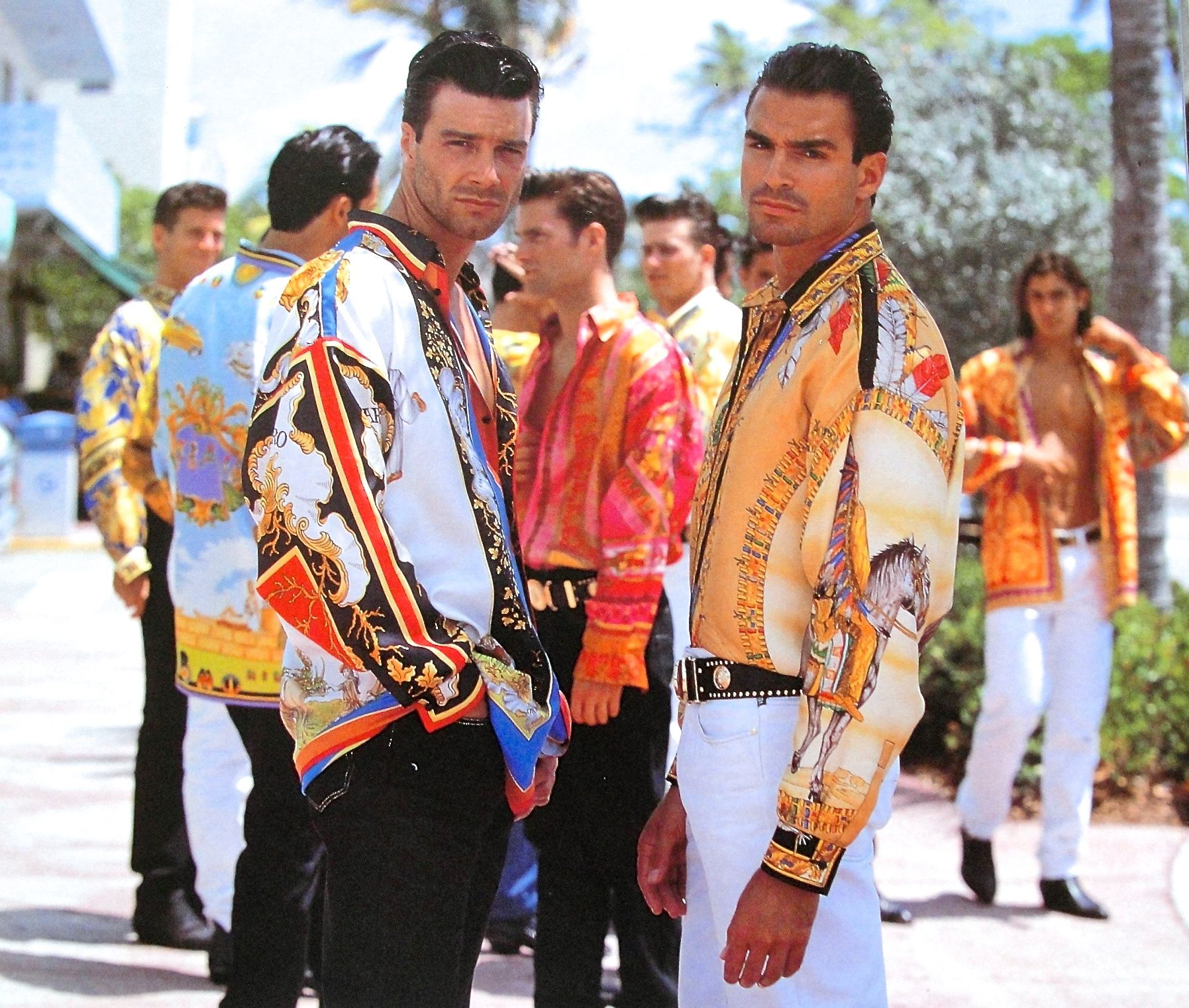 839d5ac7f8b GIANNI VERSACE SIGNATURE Spring Summer 1990 shot on location in South  Beach-Miami