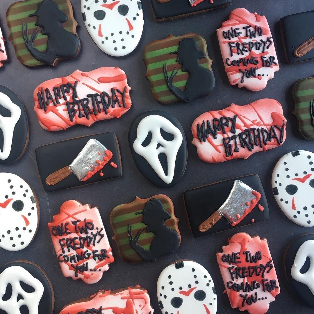 Horror movie cookies halloweencookiesdecorated Horror