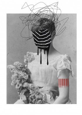 "Anxiety by Simona Gražytė | metal posters - Displate #collage explore Pinterest""> #collage #digital… 