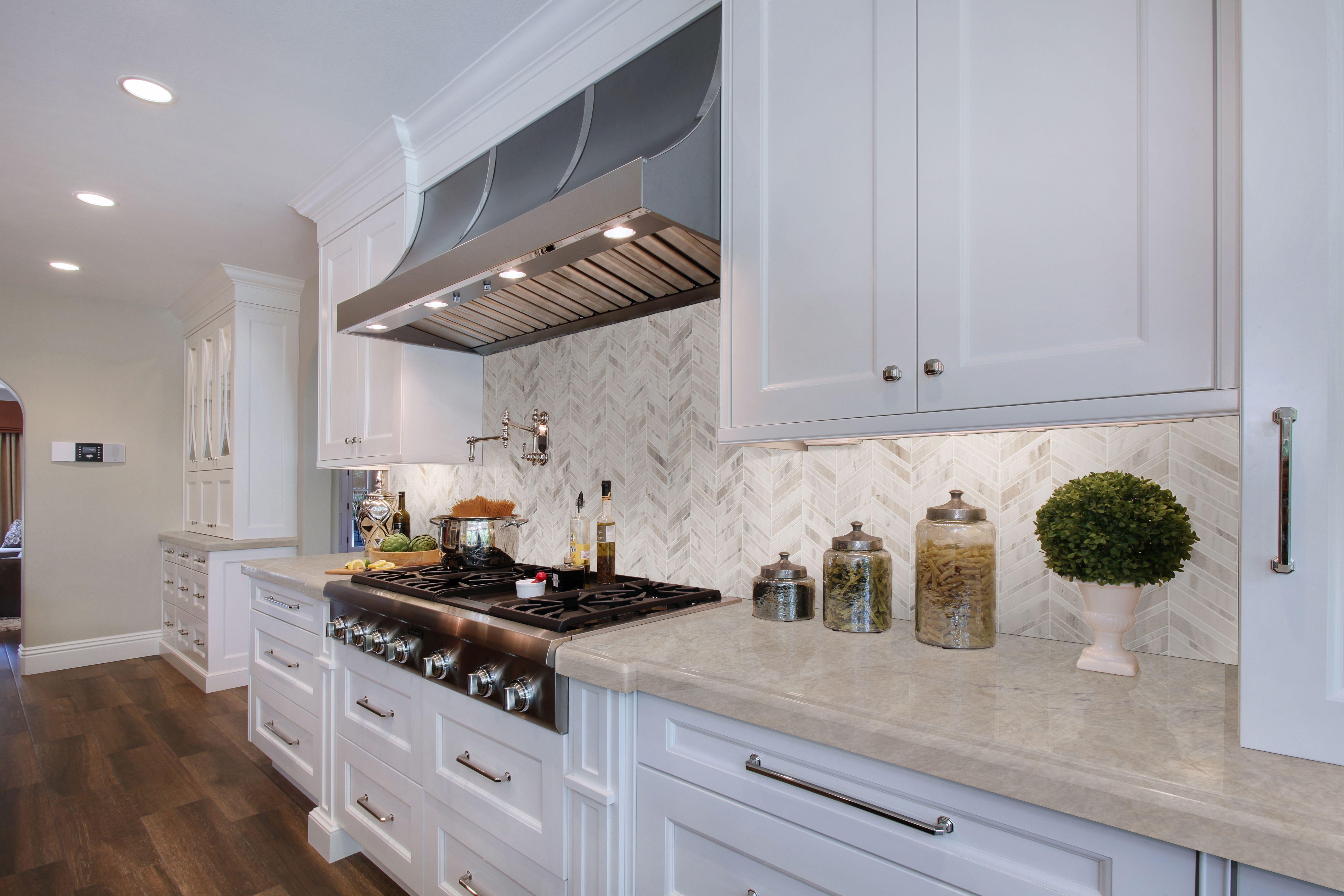 - Beautiful Angora Herringbone Mosaic Backsplash Brings The Coast