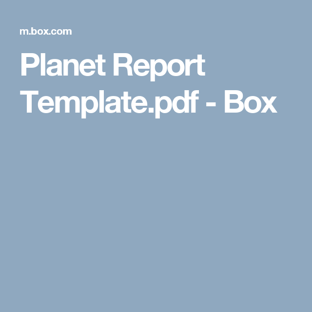planet report template pdf box space pinterest planets and pdf
