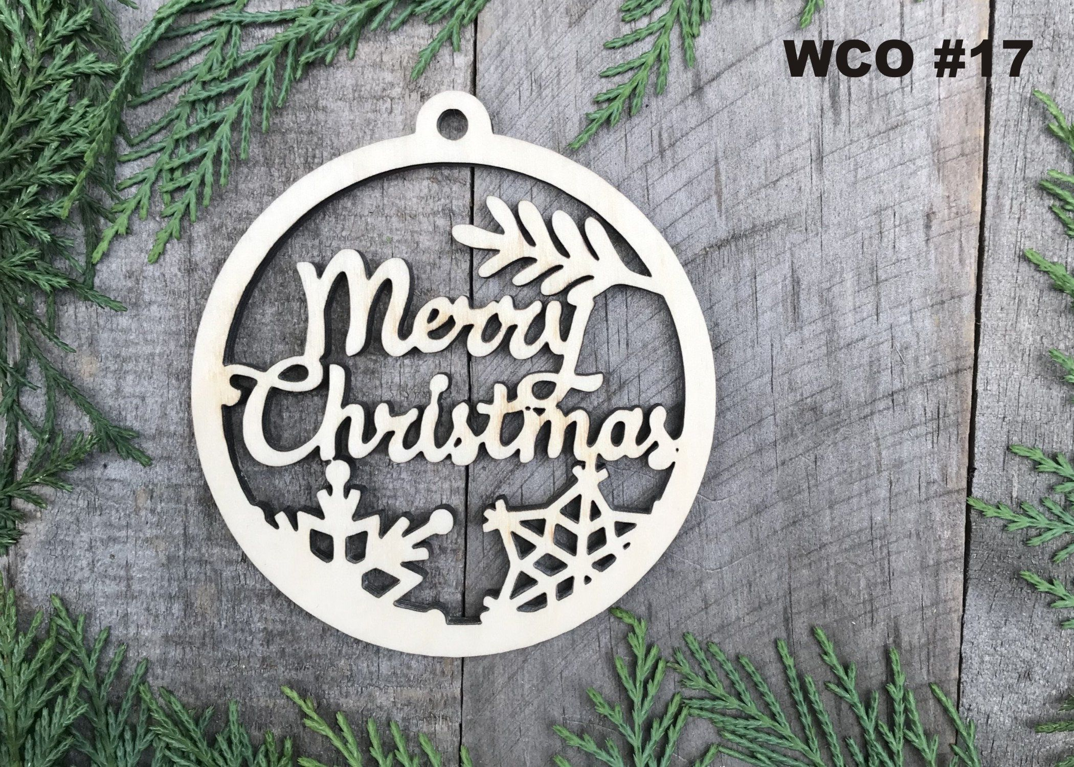 Believe In Christmas Ornament Wood Christmas Ornament Birch Christmas Ornament Christmas Ornaments laser cut ornament baltic birch