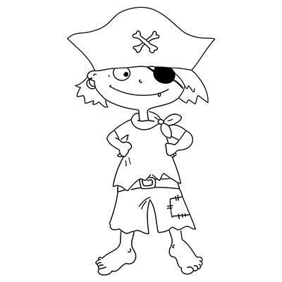 "Marabu Window Color Malvorlage ""Pirat mit Augenklappe"" #"