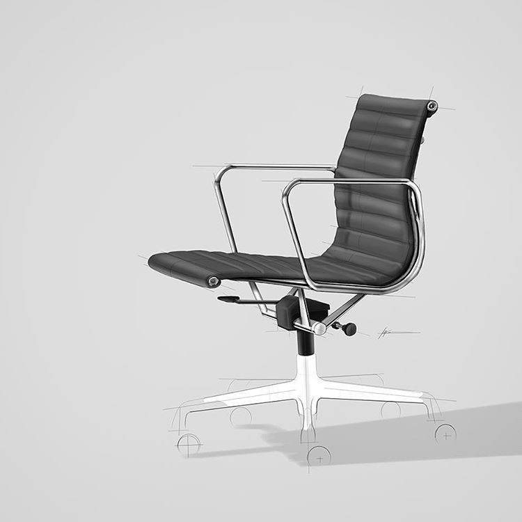 Filip Chaeder On Instagram My Favorite Office Chair Such A Classic Design Eameschair Idsketch Ink Furni Trendy Office Furniture Furniture Sketch Chair