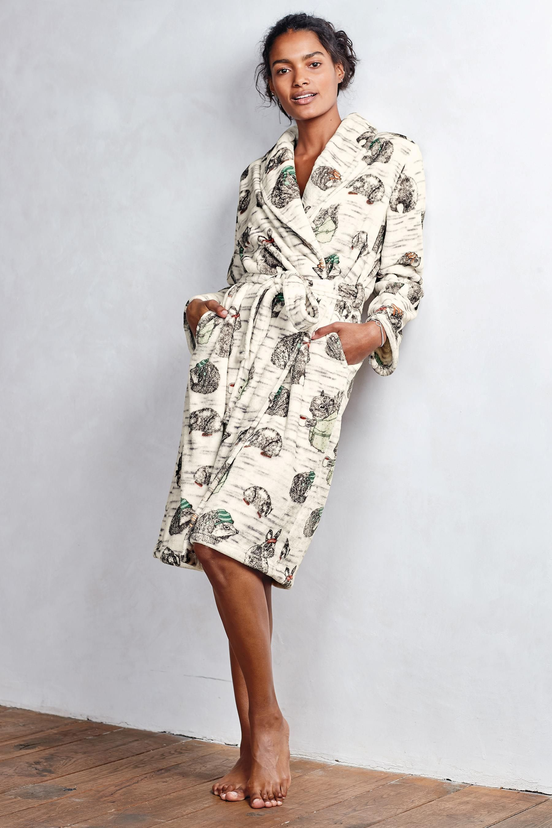 Buy Woodland Animal Printed Robe from the Next UK online shop ... 6313d3b1d