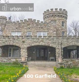 100 Garfield Pendelton Heights Historic Tiffany Castle. 5 Bed 3.5 Bath. Great Cliff Views. Listing courtesy of Michael Herns, Keller Williams Platinum.  For more photos and information go to: http://www.urbancoolkc.com/weekly-top-cool-houses.html