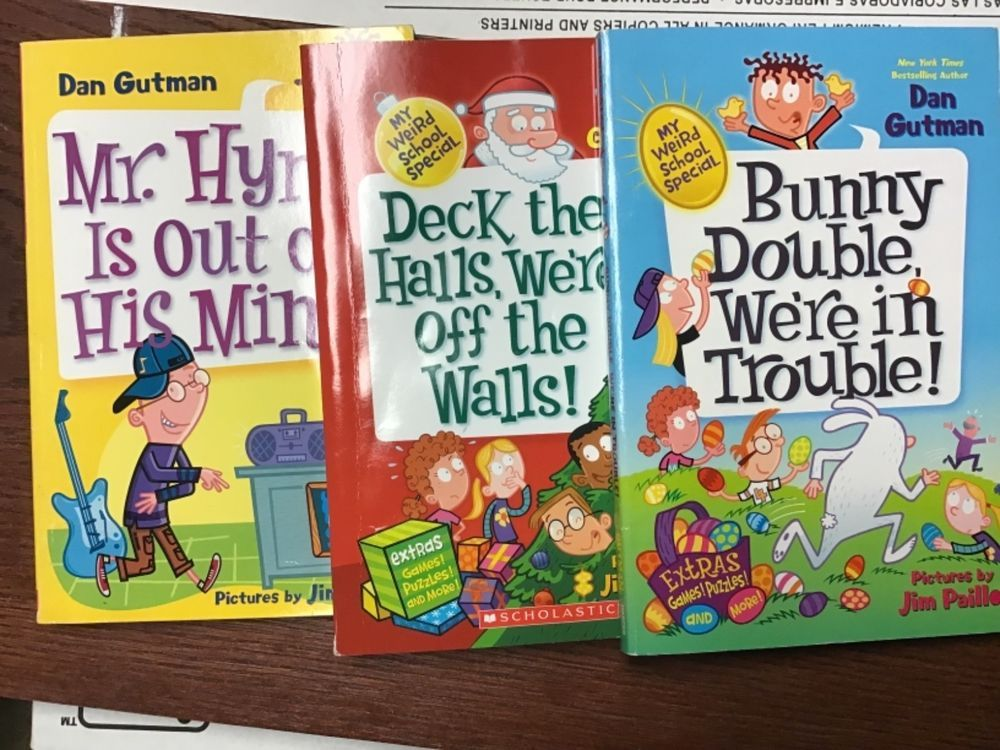 Lot of 3 My Weird School Chapter books, Hardcover