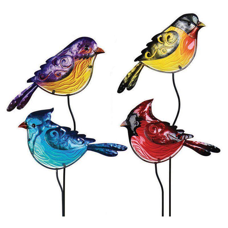 Exhart Bird Garden Stake - Set of 4 - 20012