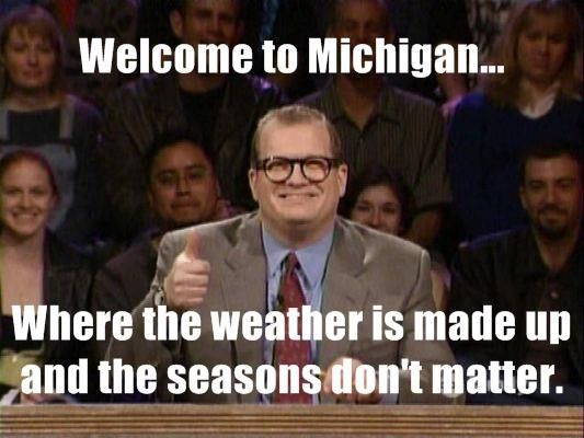 Funny Memes About Current Events : Michigan weather meme memes meme weather and humor