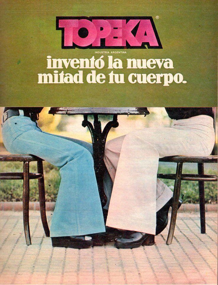 Pantalones Topeka Decada Del 70 Publicidad Retro Retro Cuerpo