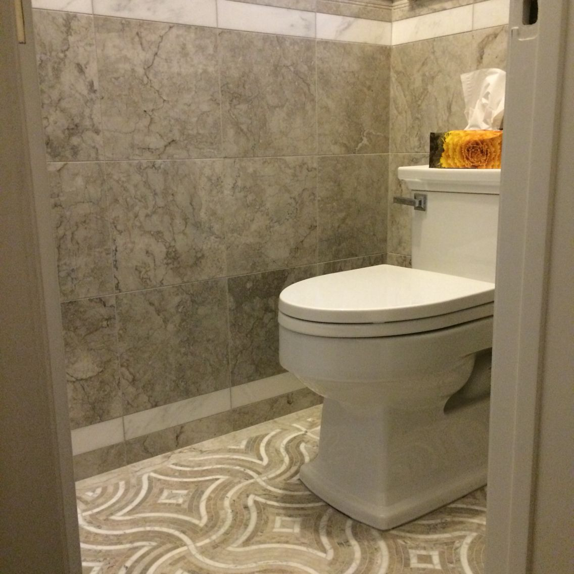 Water jet marble tiles on the floor with exotic grey marble tiles tile dailygadgetfo Image collections