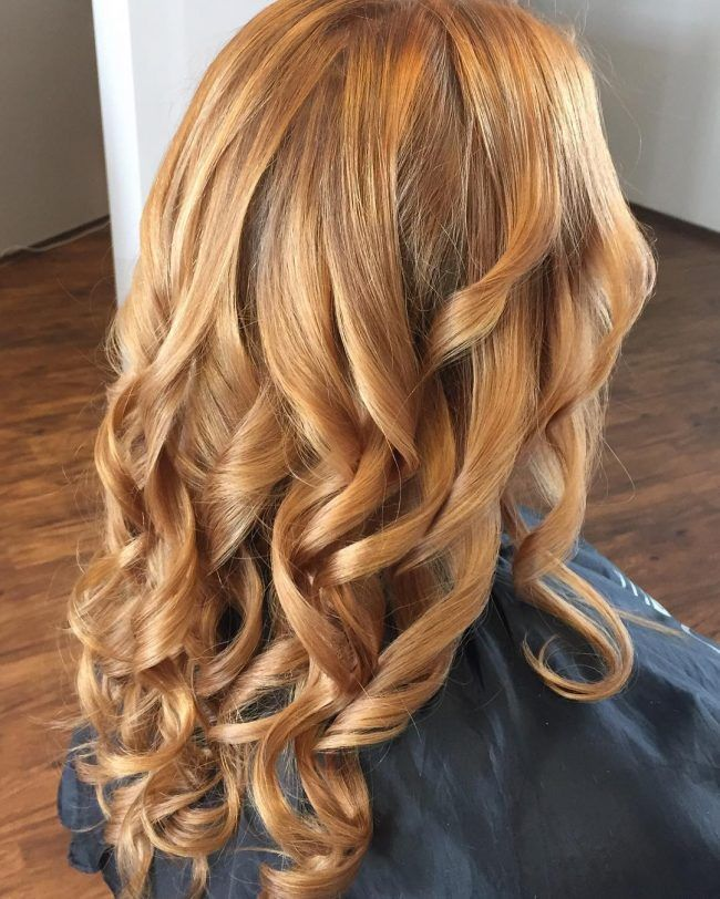 Copper Blonde Foilyage Hair ideas Pinterest
