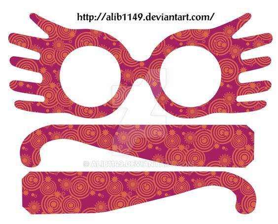 Hilaire image throughout luna lovegood glasses printable