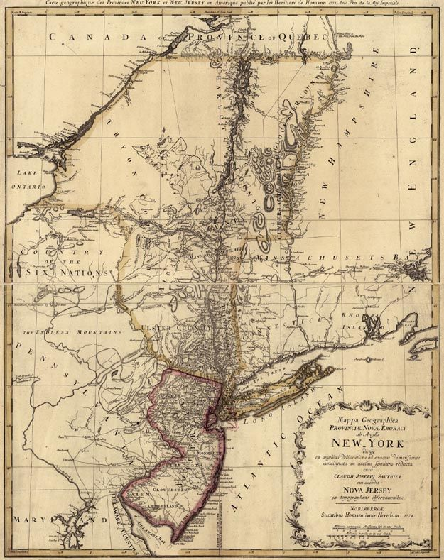 Map of Colonial New York Colonial times to revolution